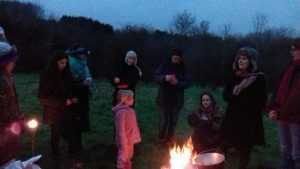 Keeping warm at the Wassail